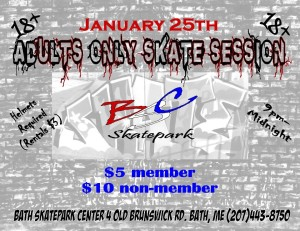 Maine adult skate session
