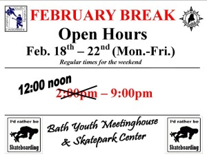 Skate Park Extended Vacation Hours