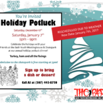 Holiday Potluck Rescheduled!