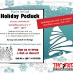 Holiday Potluck Rescheduled!